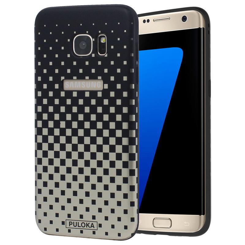sports shoes abc60 cf1c3 Луксозен силиконов гръб Puloka case за Samsung Galaxy S7 Edge- златист /  черен